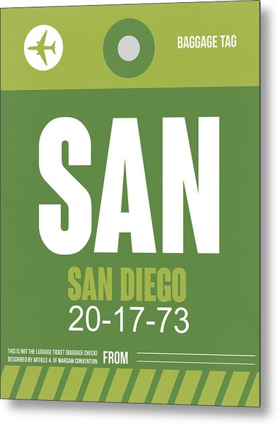 San Diego Airport Poster 2 Metal Print