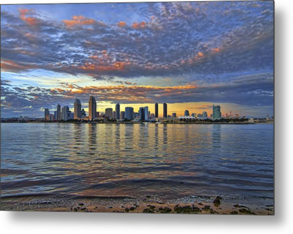 San Diego Colorful Clouds Metal Print