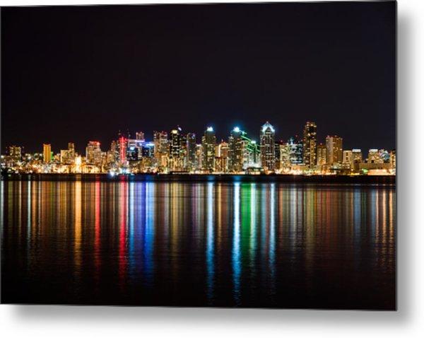 San Diego Colorful Lights Metal Print