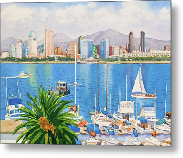 San Diego Skyline Metal Print by Mary Helmreich
