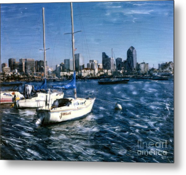 San Diego Sailboats Metal Print