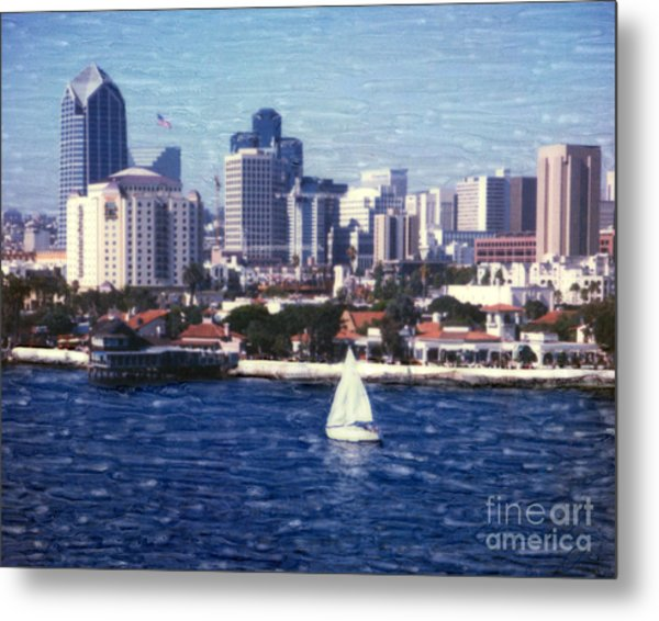 San Diego Seaport Village Metal Print