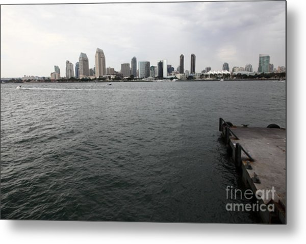 San Diego Skyline 5d24337 Metal Print by Wingsdomain Art and Photography