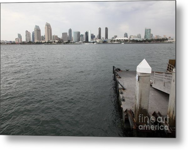 San Diego Skyline 5d24348 Metal Print by Wingsdomain Art and Photography