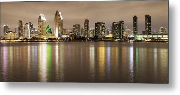 San Diego Skyline Panoramic 2 Metal Print