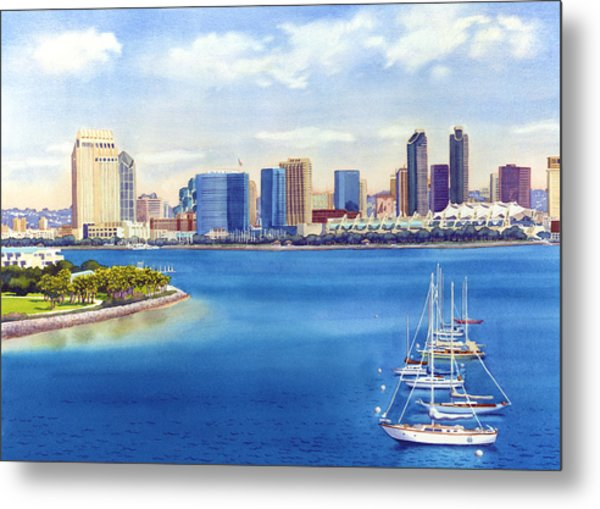 San Diego Skyline With Meridien Metal Print
