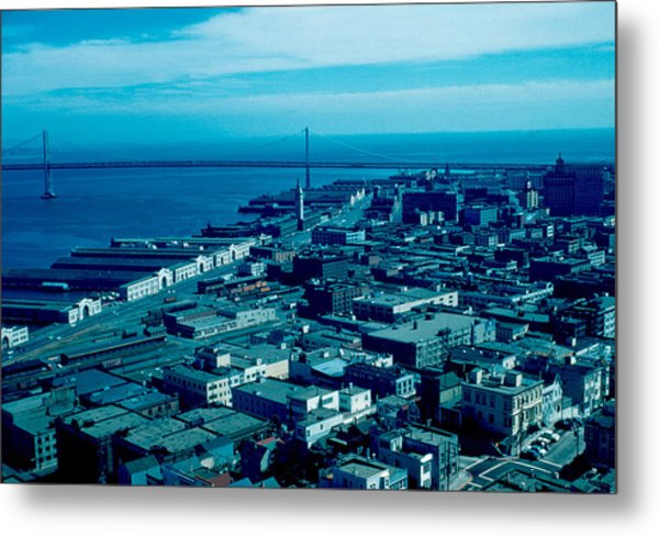 San Francisco 10 1955 Metal Print by Cumberland Warden