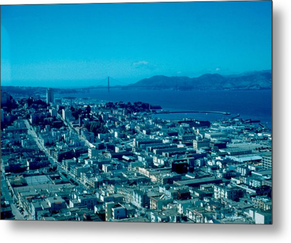 San Francisco 6 1955 Metal Print by Cumberland Warden
