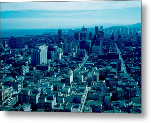 San Francisco 9 1955 Metal Print by Cumberland Warden
