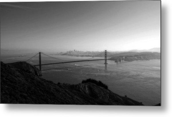 San Francisco Bw Metal Print