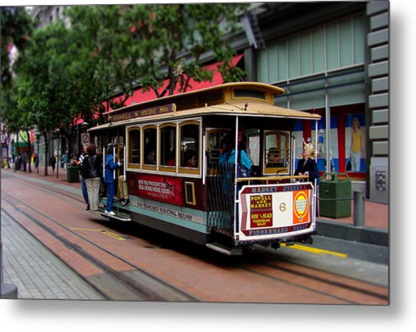 San Francisco Cable Car Metal Print by SFPhotoStore