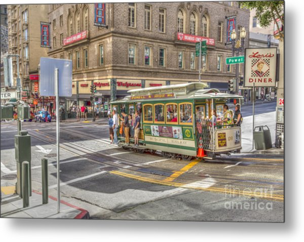 San Francisco Cable Car Metal Print
