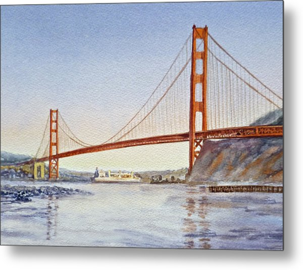 San Francisco California Golden Gate Bridge Metal Print