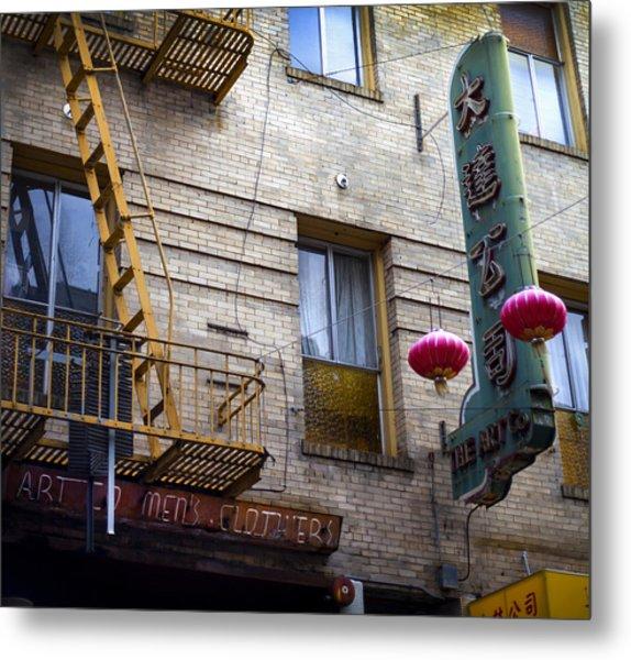 San Francisco Chinatown Golden Escape Metal Print by SFPhotoStore