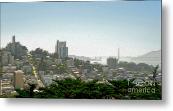 San Francisco - Cityscape - 04 Metal Print by Gregory Dyer
