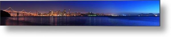 San Francisco Dusk Panorama Metal Print