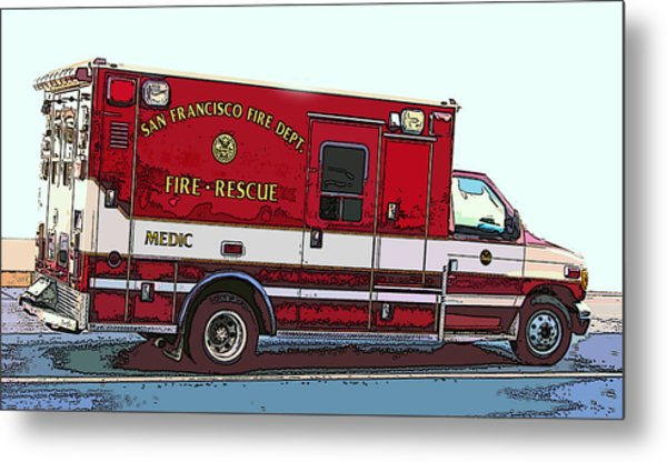 San Francisco Fire Dept. Medic Vehicle Metal Print