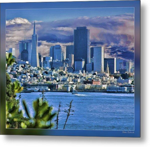 San Francisco From Alcatraz Metal Print