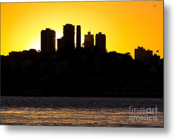 Metal Print featuring the photograph San Francisco Silhouette by Kate Brown