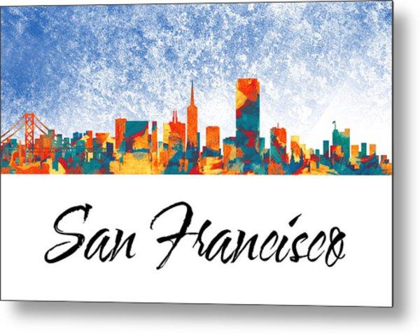 San Francisco Skyline  Metal Print by Special Tees