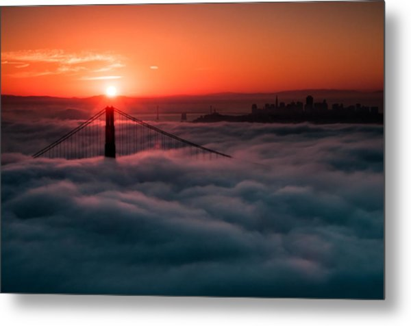San Francisco Sunrise Metal Print