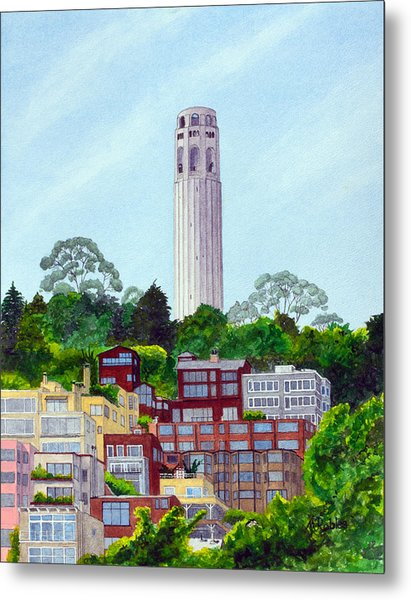 San Francisco's Coit Tower Metal Print