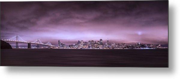 San Fransisco Cityscape Panorama Metal Print