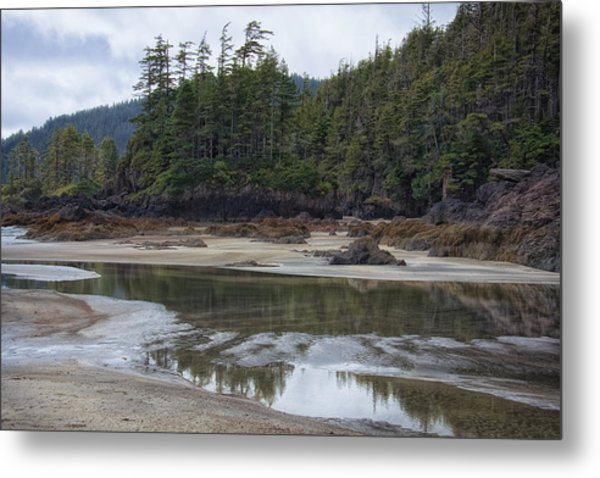 San Josef Bay Reflections Metal Print