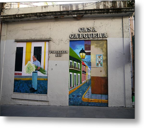San Juan - Casa Galguera Mural Metal Print