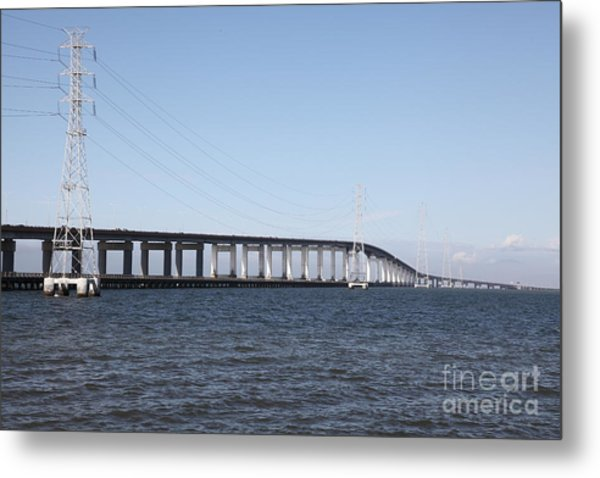 San Mateo Bridge In The California Bay Area 5d21889 Metal Print by Wingsdomain Art and Photography
