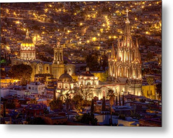 San Miguel De Allende At Night Metal Print