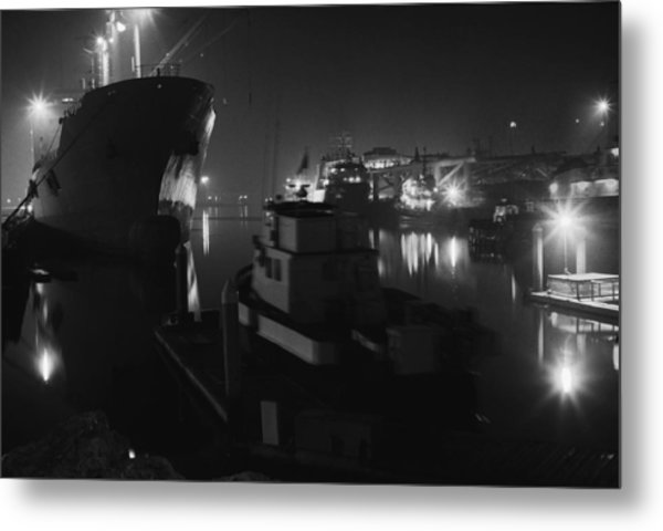San Pedro Night Shot Metal Print