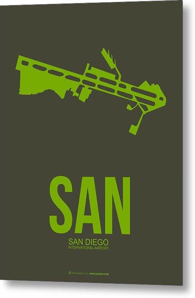 San San Diego Airport Poster 12 Metal Print