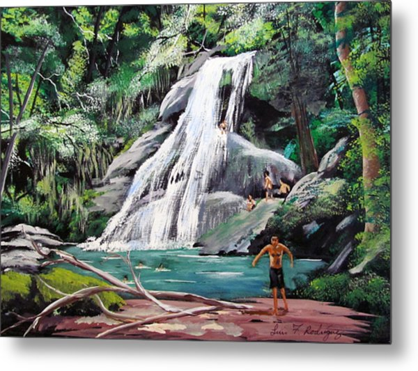 San Sebastian Waterfall Metal Print