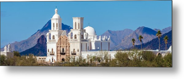 Metal Print featuring the photograph San Xavier Del Bac Mission by Ed Gleichman
