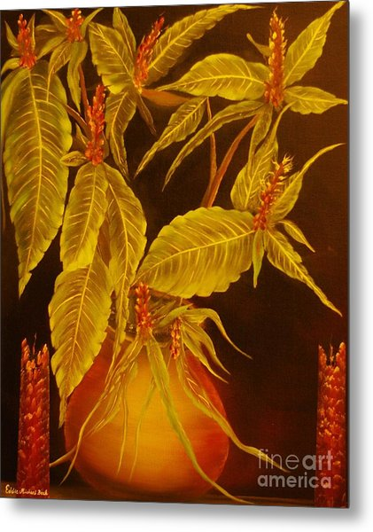 Sanchezia Atmosphere-original Sold-buy Giclee Print Nr 30 Of Limited Edition Of 40 Prints  Metal Print