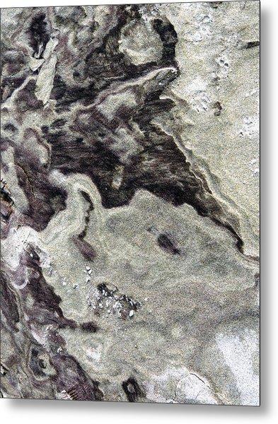 Sand Abstract Metal Print