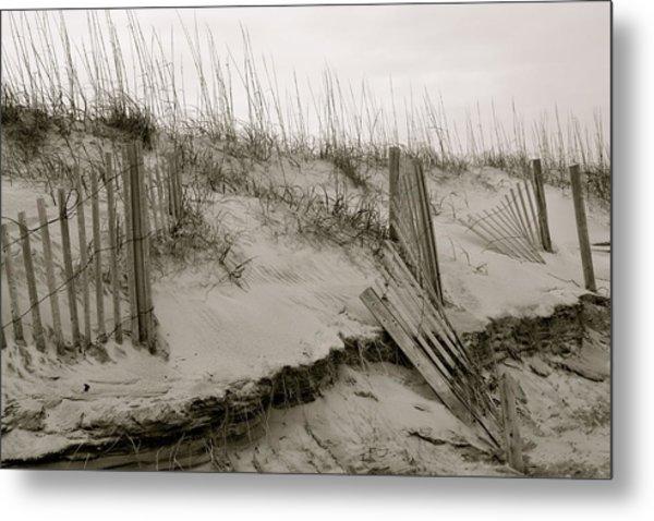 Sand And Fences Metal Print