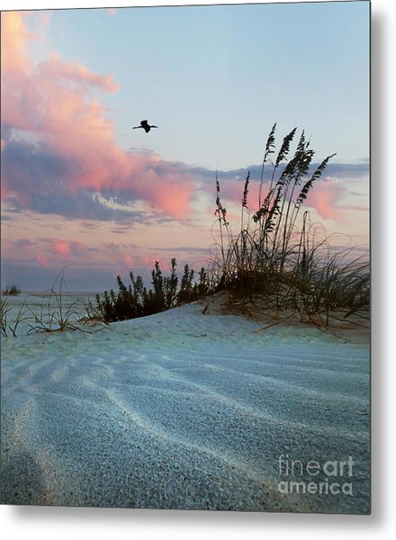 Sand And Sunset Metal Print