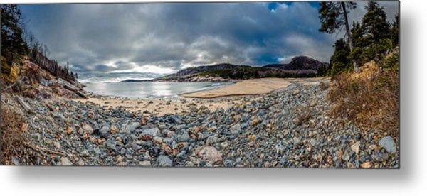 Sand Beach At Acadia Metal Print