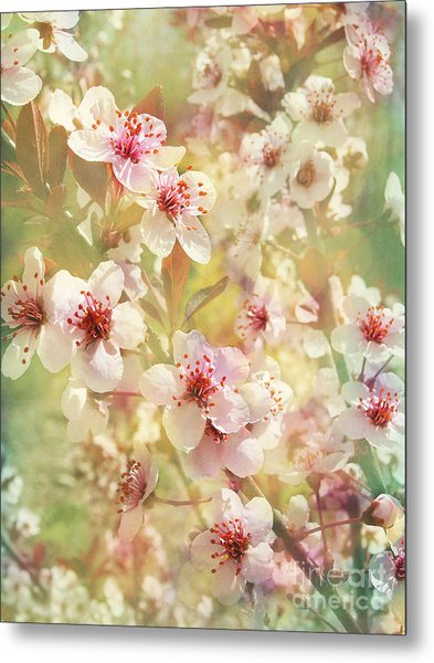 Sand Cherry Flourish Metal Print