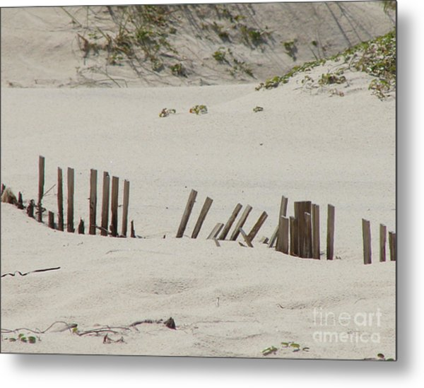 Sand Dunes At Gulf Shores Metal Print