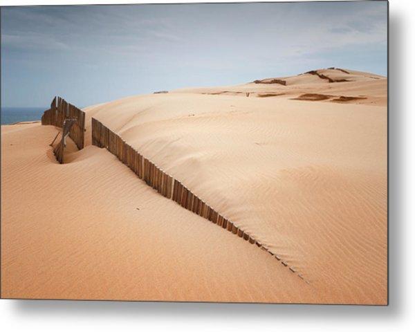 Sand Dunes At Punta Paloma Metal Print