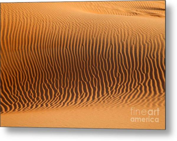 Sand Dunes In Dubai Metal Print by Fototrav Print