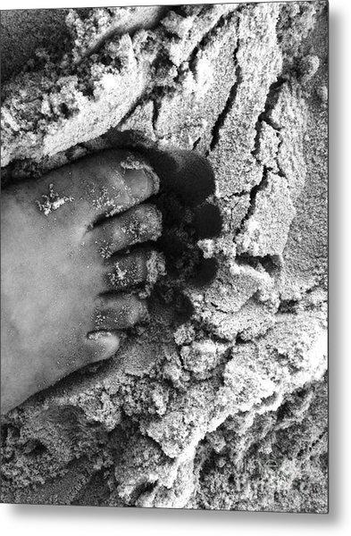 Sand Foot Metal Print