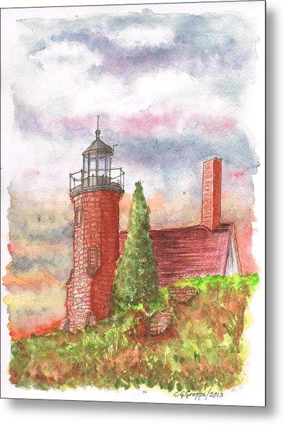 Sand Island Lighthouse - Wisconsin Metal Print