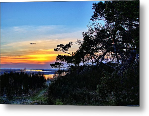 Sand Lake Sunset Metal Print