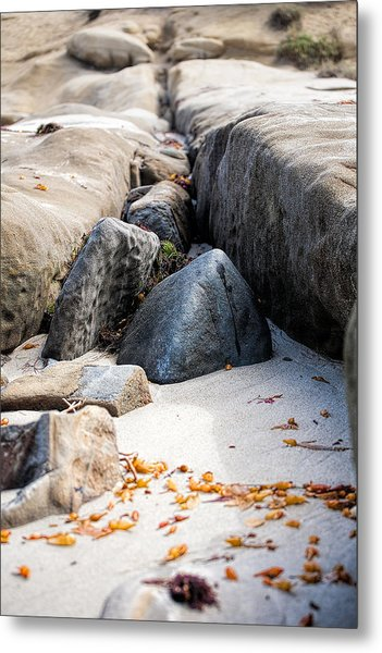 Sand Pyramids Metal Print by Peter Tellone