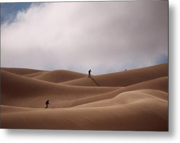 Sand Skiing Metal Print