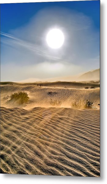 Sand Storm In The Mesquite Dunes 2 Metal Print
